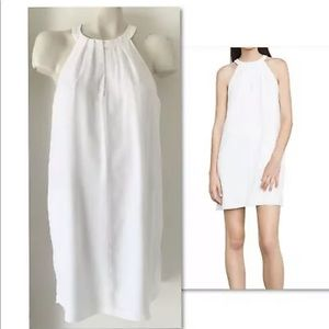 BCBG MAX AZRIA TRISTYN WHITE HALTER SHIFT DRESS S